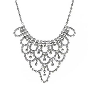 Charlotte Russe Rhinestone Bip Necklace: $15.50