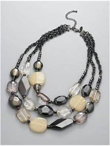 New York and Company City Style Triple Strand Chunky Bead Necklace: $24.95