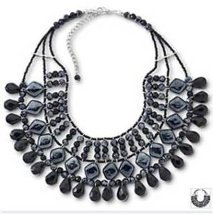 JCPenny: Mixit® Metallic Bib Necklace $23.99
