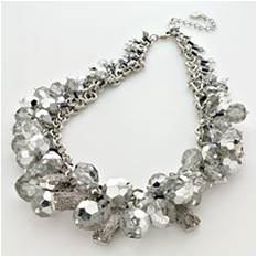 Kohls: Simply Vera Vera Wang Silver Tone Beaded Necklace: $31.50