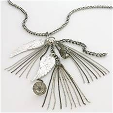 Kohls Simply Vera Vera Wang Silver-Tone  Beaded Feather Charm Necklace $32.00
