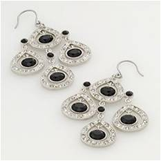 Kohls Trifari® Silver-Tone Crystal Chandelier Earrings: $22.00