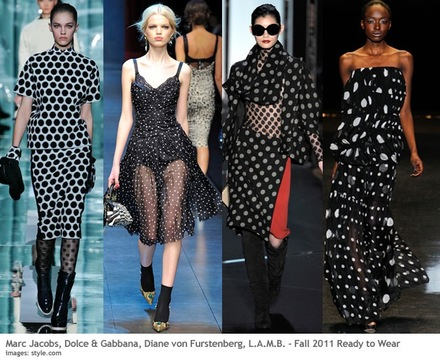 Fall Fashion 2011 Polka Dot Trend