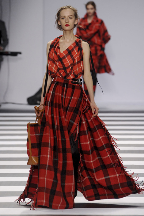 Plaid Skirt on Runway