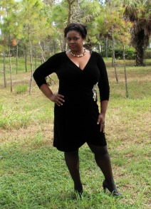 Anna Scholz Black Velour Dress