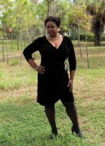 Anna Scholz Black Velour Dress