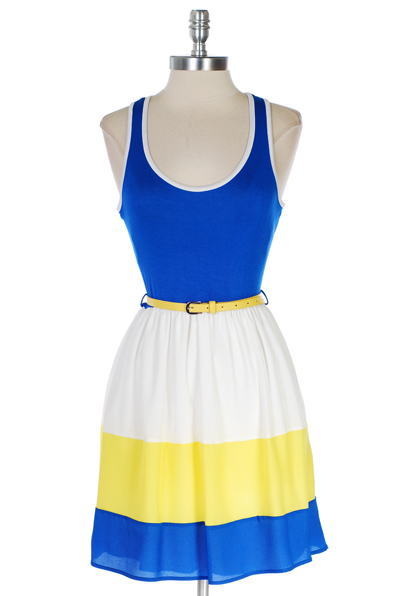 Blue and Yellow Dress