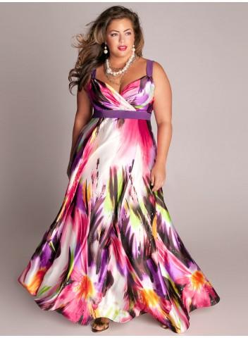 a4c79f27ab6 Plus size Tropical Beauty Maxi Dress