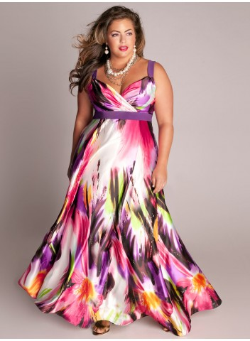 Plus size Tropical Beauty Maxi Dress