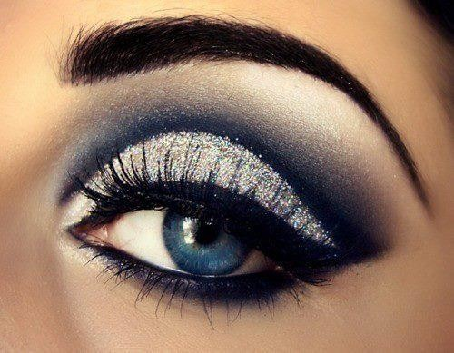 silver eyeshadow