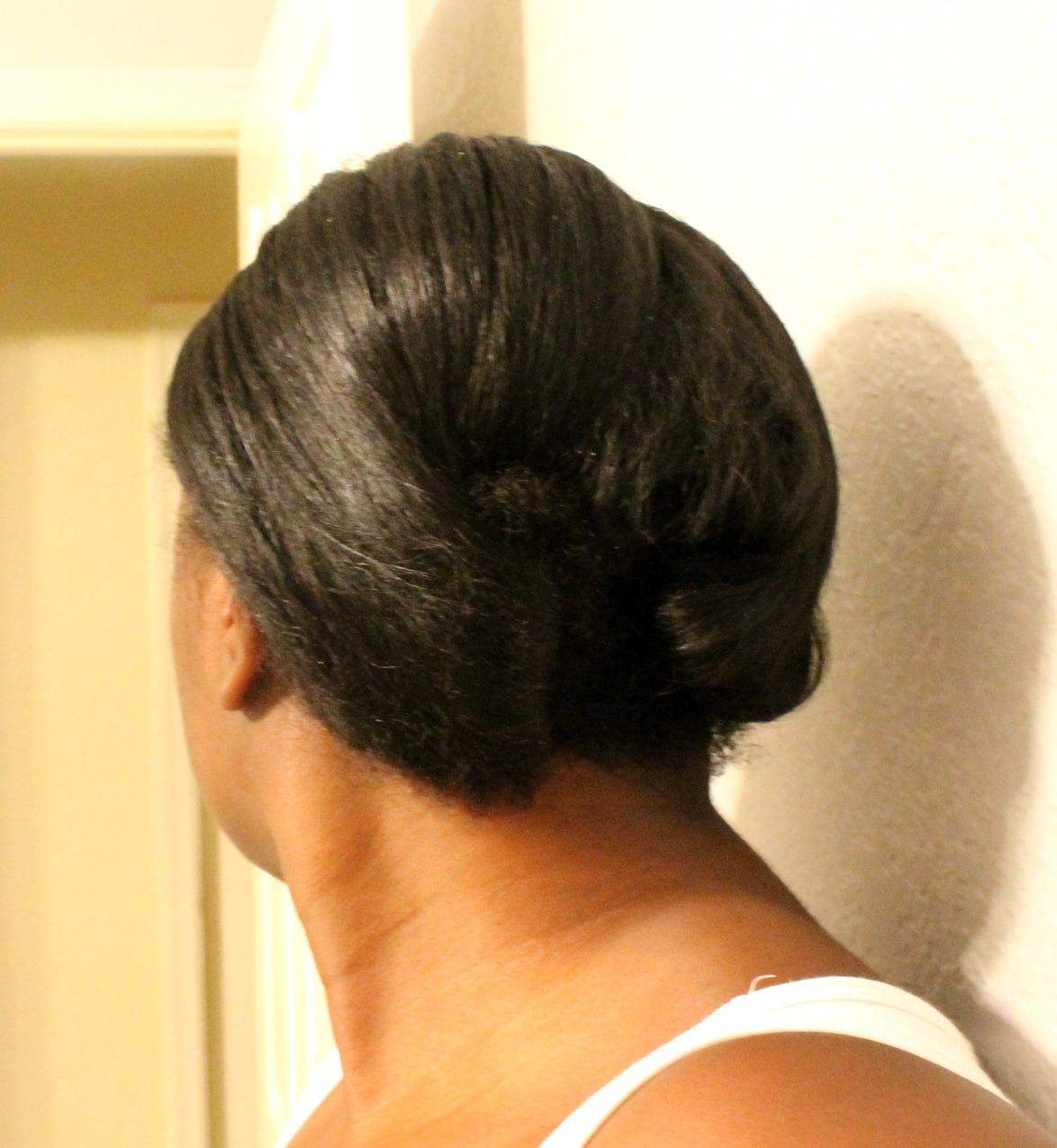 Natural Hair Bun With Braid